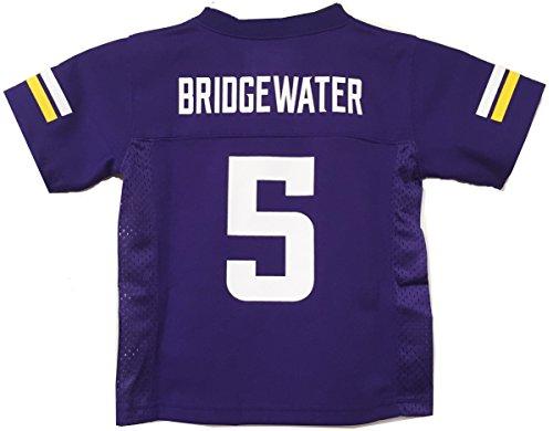 NFL  Minnesota Vikings Teddy Bridgewater Youth Boys 8-20 Mid-Tier Jersey, Purple, Large (14/16)