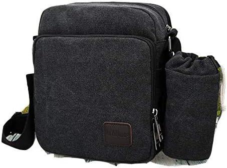 メッセンジャーバッグ メンズ 黒 ポケット多い ペットボトル位置付き ワンショルダー 斜め掛け 帆布バッグ 2wayバッグ 男士かばん 鞄 バッグ お出かけ用 アウトドア レジャー 旅行 おしゃれ