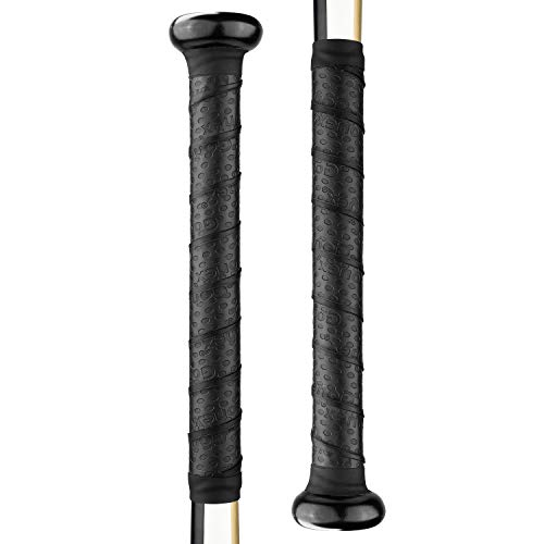 Gonex Bat Grip Tape for Baseball& Softball, 1.1mm 40.16'' Black Batting Wrap, 2pcs