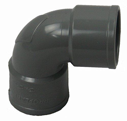 Jardiboutique - Codo de PVC para desagüe de 87ºpara pegar, 40 mm de diámetro - Paquete de 5 piezas sas mv