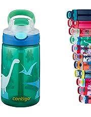Contigo Gizmo Autospout, drinkfles voor kinderen, drinkfles met stro, BPA-vrije waterfles, lekvrij, ideaal voor kleuterschool, school en sport, 420 ml