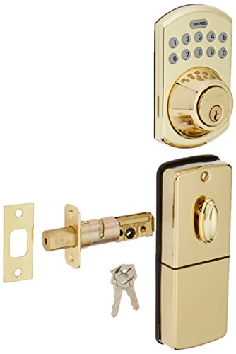 LockState RemoteLock 5i WiFi Electronic Deadbolt Door Lock - Polished Brass - Bolder (LS-DB5i-PB-B) (Lock Lockstate Door Entry Keyless)