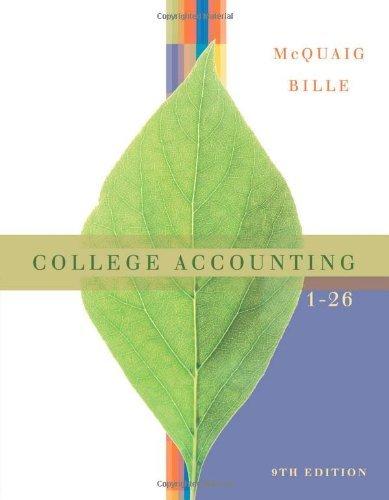 Read Online By Douglas McQuaig - College Accounting, Chapters 1-26: 9th (nineth) Edition pdf epub