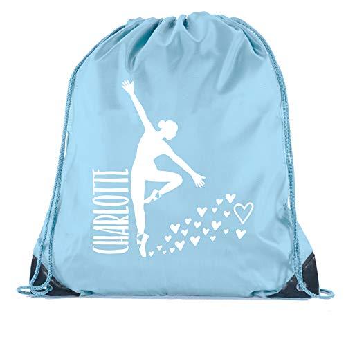 - Custom Dance Bags, Ballet Drawstring Backpacks, Personalized Dance Backpacks for Girls - Baby Blue CE2500Dance S5