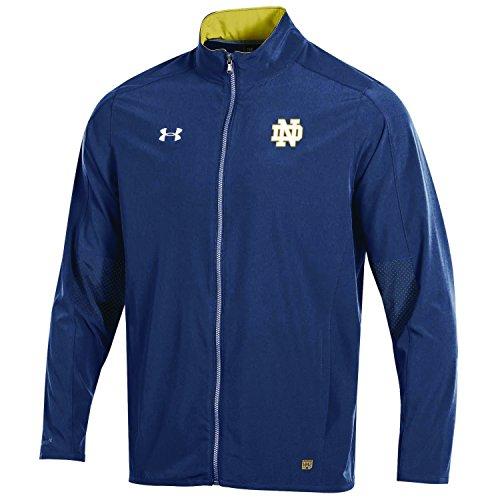 Under Armour NCAA Notre Dame Fighting Irish Adult Men NCAA Men's Sideline Warm Up Jacket, Medium, Navy