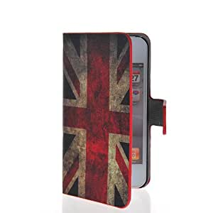 SHOPPINGBOX UK British Flag Flip Cover Leather Wallet Card Holder Pouch Stand Cover Case For Apple Iphone 4 4G 4S 02