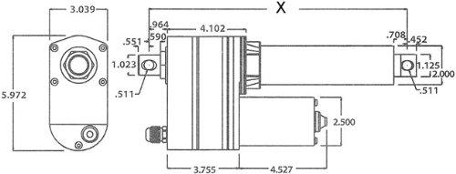18 1570lb Thrust Super Duty Linear Actuator