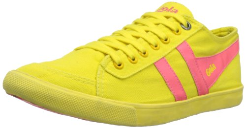 Gola Women's Quota Neon CLA604 Fashion Sneaker,Neon Yellow/Neon Pink,7 M US