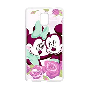 Disney Mickey Mouse Minnie Mouse Samsung Galaxy Note 4 Cell Phone Case White yyfabc-397005