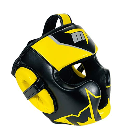Boxing helmet Full Protection Sanda Head Protector, Adult Children Free Fight Muay Thai Taekwondo Headgear, PU Leather Protective Martial Arts/Sparring/Muay Thai/Boxing