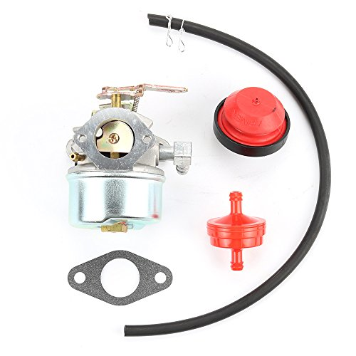 Carburetor Carb for TECUMSEH 632107 632107A 640084 640084A 640084B Snowblowers HSK40 HSK50 HS50 HSSK40 HSSK50 HSSK55 With Free Gasket & Primer Bulb & Fuel Filter & Fuel Line