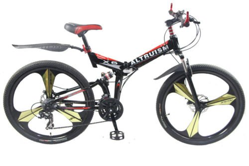 Hot Sales Altruism x6 Aluminum Alloy Mountain Bike 24 Speed 26 Inch Folding Bicycle Black
