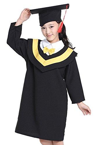 Scuola Abbigliamento Scapolo Bambini Bachelor Da Bozevon Berretti Halloween Ragazzi Cosplay Costumi Laurea Ragazze Abiti Fotografico Giallo txd6vw