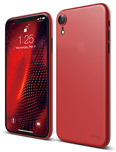 elago Inner Core Series iPhone XR case [Red] - [Thinnest and Lightest][Support Wireless Charging][Only Protects Against Scratches] Compatible with iPhone XR (2018)