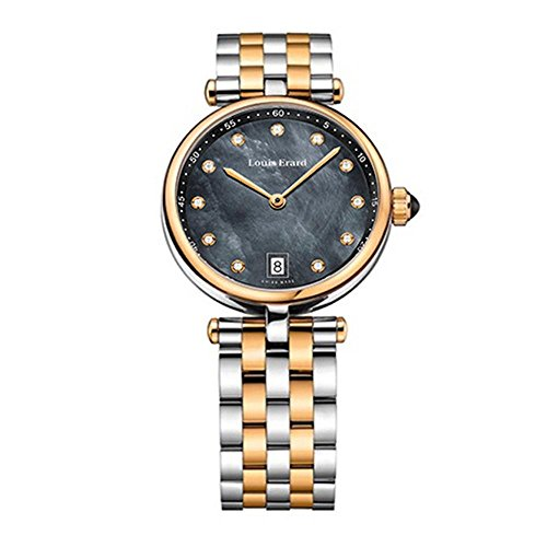 Louis Erard Romance 11810AB29.BMA27 33mm Multicolor Steel Bracelet & Case Anti-Reflective Sapphire Women's Watch