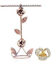 Deanyi 1 st halsband smyckesställ halsband arrangör smycken display hylla halsband ställ förvaring för smycken, brons