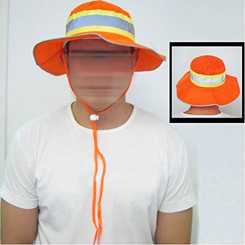 Ironwear 1271-O Booney Hat with Adjustable Neck Strap, LG/XL, Orange (100) by Ironwear (Image #3)