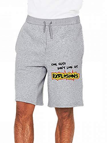 JiJingHeWang Cool Guys Dont Look at Explosions Mens Casual Shorts Pants Gray (Cool Guys Don T Look At Explosions)
