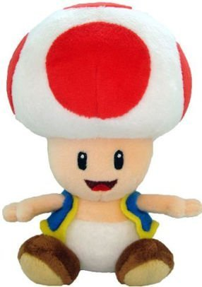 Super Mario Toad Plush Red Doll Stuffed Soft Toy - 7 Inch ()