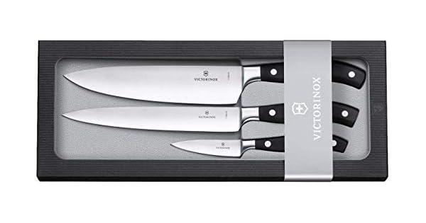 Amazon.com: Victorinox – Juego de cuchillo de chef forjado ...