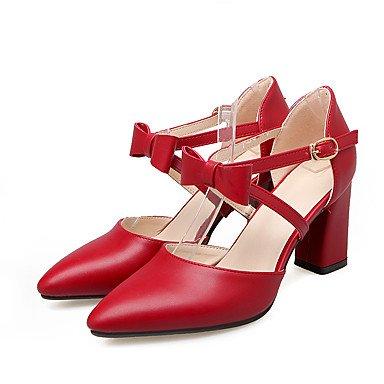 Le donne sexy elegante sandali donna tacchi Primavera Estate Autunno Inverno scarpe Club PU Office & Carriera Party & abito da sera Chunky Heel Bowknot Beige rosa , rosso , noi9.5-10 / EU41 / uk7.5-8