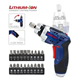 WORKPRO Cordless Power Screwdriver 3.6V Lithium-Ion Rechargeable with Flashlight in Handle