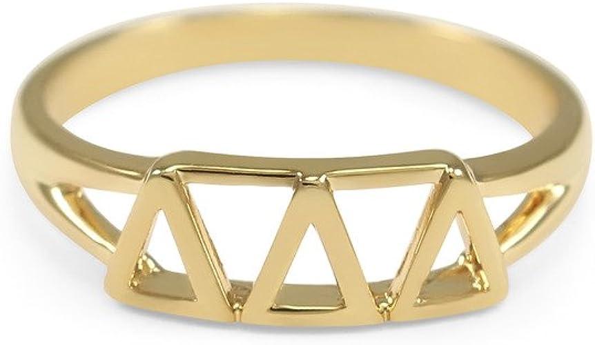 Greek Letter Bangle Bracelet Delta Delta Delta Silver or Gold Tri-Delta