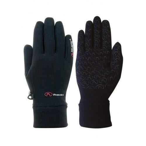 Roeckl Chester Black Gloves 6.5