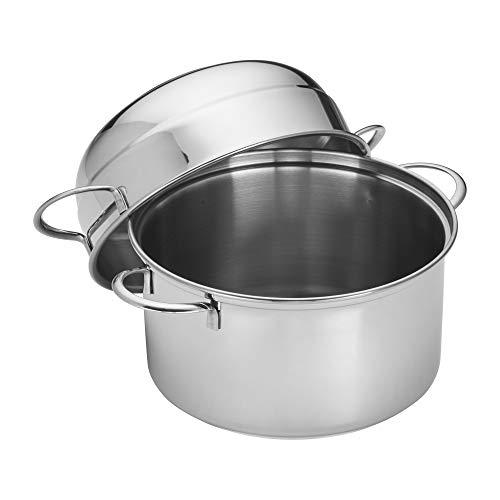 Demeyere 10821 RESTO Stainless Steel Mussel Pot, 3.2-Quart ()