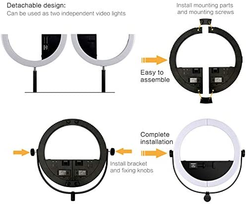 YongNuo YN508 2 in 1 Photography LED Ring Selfie Video Phone Light Color Temperature 3200K-5500K