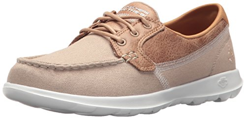Skechers Performance Women's Go Walk Coral Boat Shoe,natural,7.5 M US