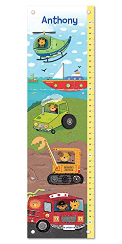 Personalized Growth Chart - Personalized Growth Chart Ruler Tractors Nursery Décor