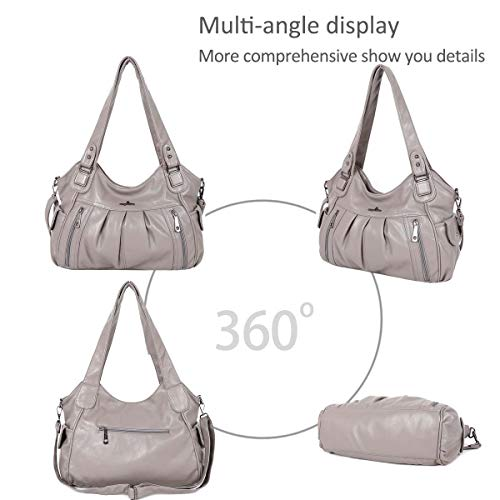 bags Hobo Totes Women NICOLE DORIS Gray Large Handbags Crossbody shoulder Vintage amp; q0x18f
