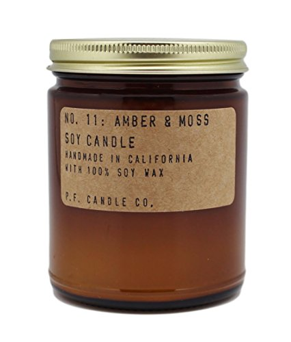 PF CANDLE CO Amber and Moss Soy Candle, 7.2 Ounce by PF CANDLE CO