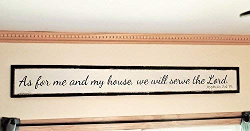 As for me and my house Wooden Sign Distressed wood sign Joshua 24:15 fixer upper style wall art 48