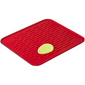 Greatest Amazon.com: Red Extra-Large Silicone Dish-Drying Mat & High-Heat  VU26