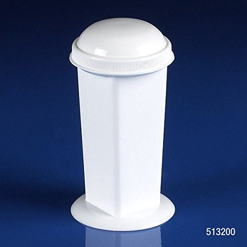 Globe Scientific 513200 Polypropylene Coplin Stainging Jar, 5-10 Place, Shape, White (Pack of 12) by Globe Scientific (Image #1)