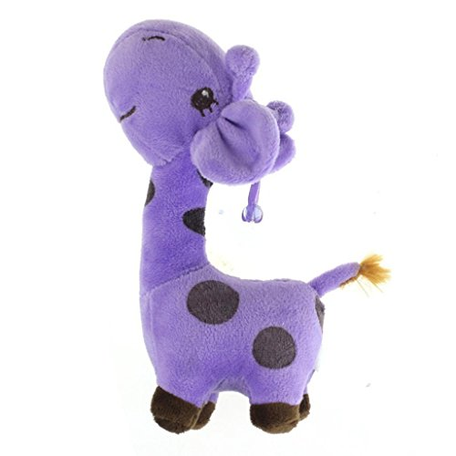 Elaco Cute Plush Giraffe Toys Soft Animal Dear Doll Toy for Baby Kids Girls Birthday Gift (Purple)