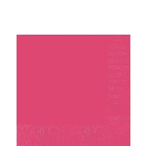 Bright Pink 3-ply Lunch Napkins - Pink Luncheon Napkins