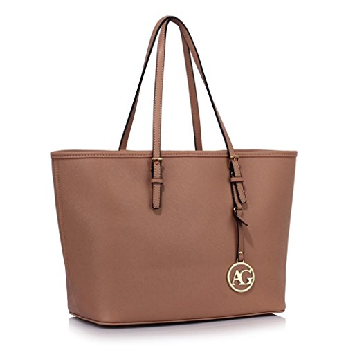 M A4 Ladies For Tote Nude Clearance Large Shopper Women's Handbags Leahward 297 Sale Bags Shoulder Size agqyxC