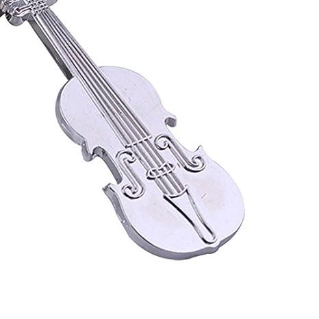 Dosige 1 Piezas Llavero brillante del violín de la música ...