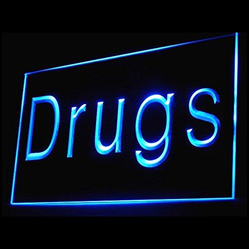 200059 Drugs Store Pharmacy Medicine Prescription Display LED Light Sign