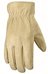 Wells Lamont Leather Work Gloves with Reinforced Suede Palm Patch, Grain Cowhide, XXL (1130XX)