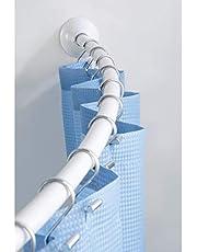"InterDesign Wall Mount Curved Bathroom Shower Curtain Rod - 41-72"""