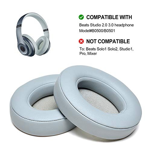 AGPTEK Ear Pad Cushion Replacement Compatible with Beats Studio 2.0 Wired/Wireless B0500 / B0501 Headphone & Beats Studio 3.0, 1 Pair