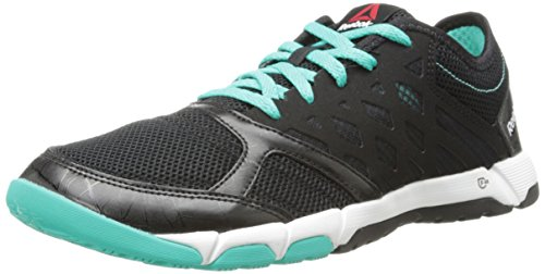 Reebok Women's One TR 2.0 Cross-Training Shoe,Black/Timeless Teal/White,6.5 M US