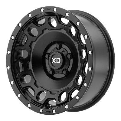 XD Series by KMC Wheels XD129 Holeshot Satin Black Wheel (17x8.5''/5x114.3mm, +34mm offset)