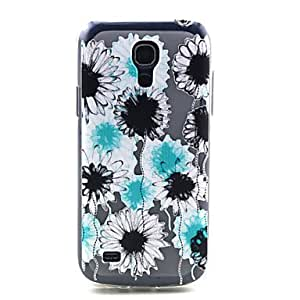 LHY Flowers Pattern TPU Soft Cover for Samsung Galaxy S4 MINI I9190
