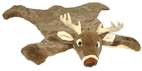 carstens plush white tail deer animal rug small