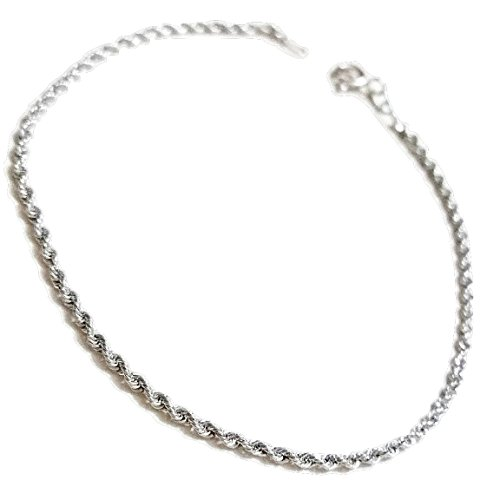 Bracelet Femme-Corde-Or Blanc 18 Cts 750/000 g 1,30-18 Cts 750 white gold bracelet for woman